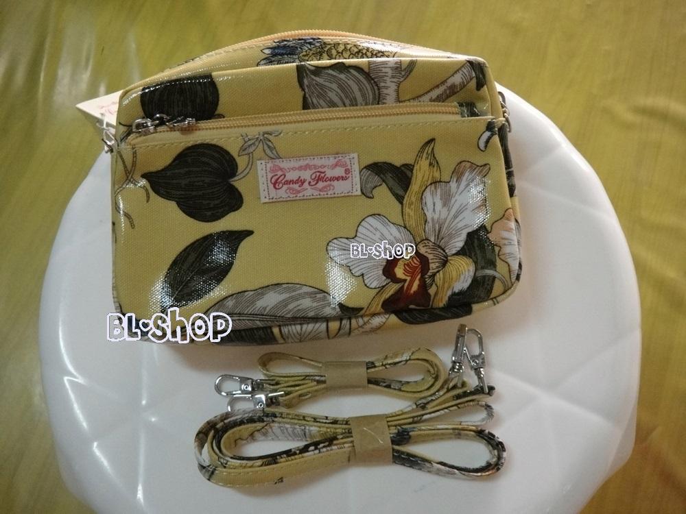 กระเป๋า candy flower สีเหลือง ลายดอกไม้