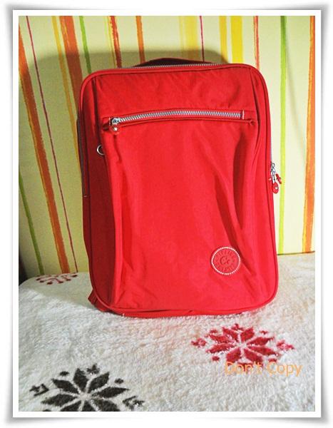 กระเป๋าสะพาย ใส่ Notebook Kipling สีแดง no1