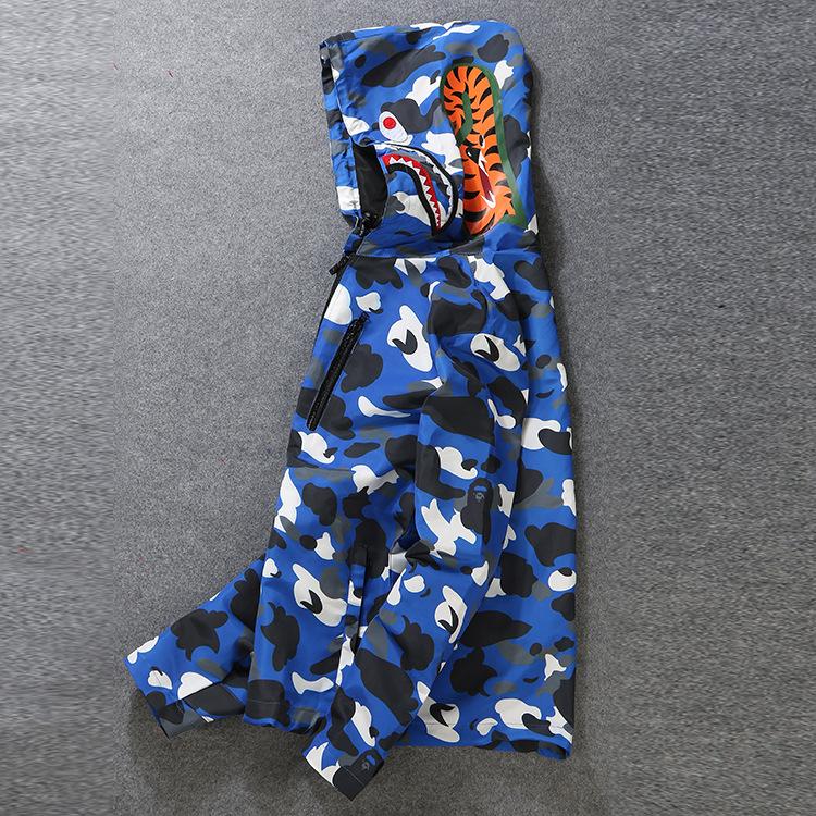 Preorder เสื้อฮู๊ดมีซิป APPE 04 ลายพราง ฟ้า