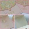 55047 การ์ดแต่งงานสี่เหลี่ยมจัตุรัส แบบสามพับ มี 2 สีครับ
