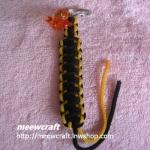 """พวงกุญแจเชือกร่มพร้อมตุ๊กตา #KT029 ยาว3.5"""""""