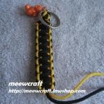 """พวงกุญแจเชือกร่มพร้อมตุ๊กตา #KT012 ยาว3.5"""""""