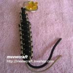 """พวงกุญแจเชือกร่มพร้อมตุ๊กตา #KT036 ยาว3.5"""""""
