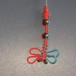 """พวงกุญแจแมลงปอ#DCR023 ขนาด5"""""""