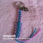 """พวงกุญแจเชือกร่มพร้อมตุ๊กตา #KT031 ยาว3"""""""