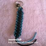 """พวงกุญแจเชือกร่มพร้อมที่ห้อย #KT039 ยาว3.5"""""""