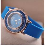 นาฬิกาข้อมือผู้หญิง นาฬิกา สาย ซิลิโคน แท้ Candy หน้าปัดดีไซน์ ใส่ เม็ดบีด รอบกรอบ นาฬิกาใส่ทำงาน เก๋ ๆ สีน้ำเงิน ชมพู ดำ ขาว 821548