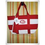 กระเป๋าถือ กระเป๋าสะพาย Lc สีแดงสลับขาว