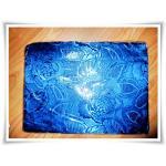 ผ้าแพร ผ้าห่ม ลายกุหลาบสีน้ำเงิน