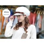 หมวกแฟชั่น ขนสัตว์ สไตล์ สาวยุโรป สีขาว คาดน้ำตาล ดีไซน์ หรูหรา ใส่แล้วดูน่ารัก สุด ๆ ค่ะ 55853