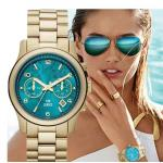 นาฬิกาข้อมือ ผู้หญิง นาฬิกา สาย สแตนเลส สีทอง สวยหรู หน้าปัดหลากสี สีดำ น้ำเงิน แดง ฟ้า นาฬิกาสุดหรู ดีไซน์ สไตล์ อเมริกา 299463