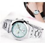 นาฬิกาข้อมือ ผู้หญิง ใส่ทำงาน นาฬิกาข้อมือ สายสีเงิน หน้าปัดสีชมพู ขาว ดำ ฟ้า นาฬิกาใส่ทำงานสวย ๆ 903419