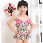 ชุดว่ายน้ำเด็กผู้หญิง น่ารัก ๆ ชุดว่ายน้ำเด็ก ลายเสือดาว สีน้ำตาล แซม ระบายสีชมพู หวาน ๆ พร้อมระบาย กระโปรง น่ารัก สุด ๆ 134500