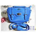 กระเป๋าถือ กระเป๋าสะพาย หนัง PU สีน้ำเงิน ทรงสี่เหลี่ยม กระเป๋าสะพายข้าง ผู้หญิง ใส่ของกระจุกกระจิก ขนาดกลาง กระเป๋า สะพายข้างเที่ยว bb002