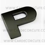 สติกเกอร์โลโก้ตัวอักษรโลหะ 3D - P
