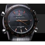 นาฬิกาข้อมือ ผู้ชาย นาฬิกา สาย สแตนเลส สีดำ สุดคลาสสิค มี 2 ระบบในตัว ทั้ง Analog และ Digital รวมความหรู กับ ความสปอร์ต ไว้ด้วยกัน สไตล์อังกฤษ 366549