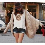 เสื้อกันหนาวผู้หญิง เสื้อกันหนาว ไหมพรม ตัวใหญ่ สไตล์ สาวเกาหลี น่ารัก ดีไซน์ เก๋ มีสไตล์ สีเทา สีเบจ สีน้ำตาล สีชมพู no 29311