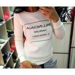 เสื้อยืดผู้หญิง แขนยาว เสื้อยืด แฟชั่น แขนยาว สไตล์ สาวอเมริกัน สีขาว แบบสวย ใส่สบาย พิมพ์ลาย Ballinciaga Harlem 206635
