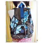 กระเป๋าสะพายหลัง กระเป๋าเป้ วัยรุ่น ผู้หญิง สีน้ำตาลดอกไม้ฟ้า กระเป๋าสะพาย แบบน่ารัก สินค้าลดราคา กระเป๋าสะพาย ขนาดกลาง ราคาถูก KP306