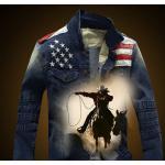 เสื้อเชิ้ตยีนส์ผู้ชาย เสื้อยีนส์แขนยาว ใส่เป็น Jacket ยีนส์ สไตล์ อเมริกัน ดีไซน์ แบบ คาวบอย เท่ ๆ แจ็คเก็ต ยีนส์ แขนยาว สินค้าขายดี 889007