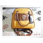 กระเป๋าสะพาย กระเป๋าถือหนัง สีเหลืองเข้ม