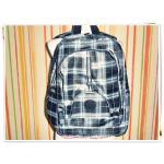 กระเป๋าเป้ ใส่ Notebook KP ลายสก๊อตสีดำ