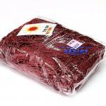 เชือกร่ม (500 กรัม) #707 (สีแดงเลือดหมู ดิ้นเงิน)
