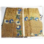 ผ้าถุงสำเร็จรูป ลายไทย สีทอง P009