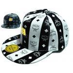 หมวก cap หมวกมีปีก หมวกเบสบอล หมวกหนัง MCM สีขาวสลับดำ คลาสสิค หมวกใส่เที่ยว น่ารัก สุด ๆ 687223_1