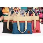 กระเป๋าสะพายข้าง กระเป๋าถือ ผ้าแคนวาส สีหวาน ๆ สีชมพ น้ำเงิน ฟ้า ปรับแบบ ได้ 3 สไตล์ ดึงขึ้น เป็นกระเป๋าขนาดสูง หรือ ใส่สายสะพายได้ 604656