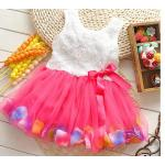 ชุดกระโปรงเด็กผู้หญิง อายุ 6 - 24 เดือน เดรสเด็กผู้หญิง สีชมพูเข้ม ดอกกุหลาบ กระโปรงบาน เสื้อแขนกุด สีขาว ปักกุหลาบ ใส่ไปงาน น่ารัก 785574_2