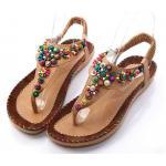 รองเท้าแตะ ผู้หญิง แบบรัดส้น รองเท้า แฟชั่น เก๋ ๆ สไตล์ วินเทจ ร้อยลูกปัด ใส่สบาย รองเท้าเก๋ ๆ ใส่เที่ยวทะเล เที่ยวต่างประเทศ 304689