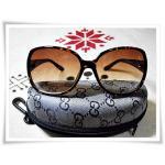 แว่นตากันแดด Gucci สีชา B106