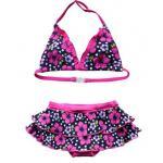 ชุดว่ายน้ำเด็กผู้หญิง ชุดว่ายน้ำเด็ก ทูพีช น่ารัก ๆ ลายดอกไม้ สีสันสดใส สีชมพู กางเกงเป็น ระบาย กระโปรง เก๋ ๆ 905106