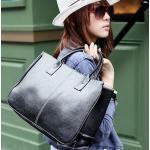 กระเป๋าถือ ผู้หญิง กระเป๋าถือ หนัง Pu ขนาดกระทัดรัด สีพื้น สีดำ ทนทานสุด ๆ No 39848_1