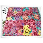 ผ้าถุงสำเร็จรูป ลายไทย สีชมพูดอกไม้ P006