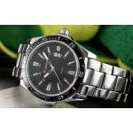นาฬิกาข้อมือ ผู้ชาย สาย Stainless แบบเท่ ๆ Curren สาย สแตนเลส สีดำ สีเงิน หน้าปัดดำ และ เงิน สินค้าลดราคาพิเศษ แบบสวย ของขวัญให้แฟน สุดหรู 407395