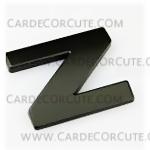สติกเกอร์โลโก้ตัวอักษรโลหะ 3D - Z