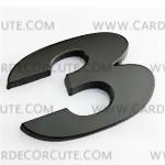 สติกเกอร์โลโก้ตัวเลขโลหะ 3D - 3