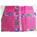 ผ้าถุงสำเร็จรูป ลายไทย สีชมพูดอกไม้ฟ้า P010