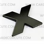 สติกเกอร์โลโก้ตัวอักษรโลหะ 3D - X