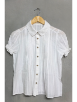 เสื้อเชิ้ตคอบัวสีขาว ไซส์ L