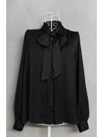เสื้อแขนยาวสีดำผูกโบว์ ไซส์ M
