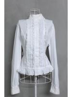 เสื้อเชิ้ตสีขาวคอตั้ง แบรนด์ BODY LINE