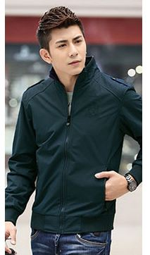 เสื้อ แจ็คเก็ต ผู้ชายแขนยาว เสื้อกันลม สีน้ำเงินกรมท่า สียอดฮิต ผ้า 2 ชั้น Nylon,Polyester เสื้อ Jacket กันลม ใส่ขี่มอเตอร์ไซค์ เท่สุด ๆ 580383