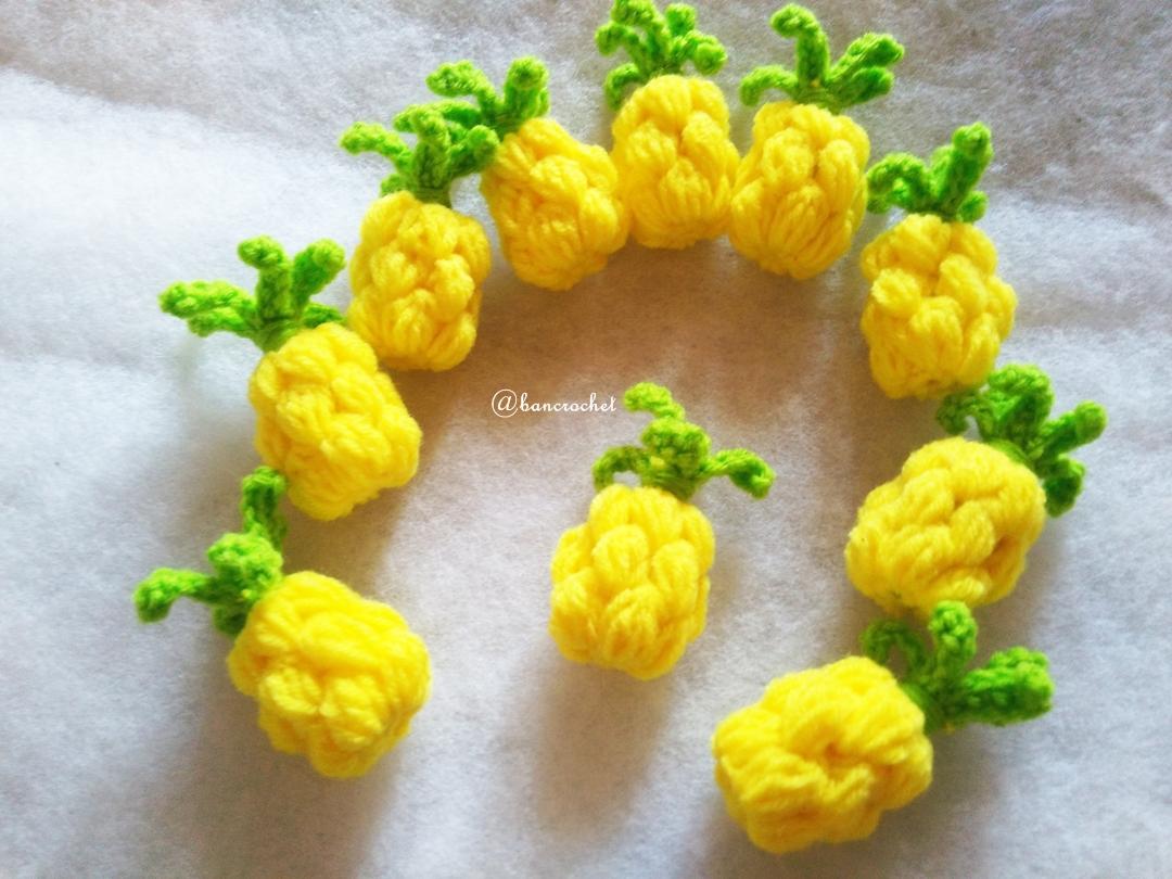 สับปะรดถักโครเชต์ pineapple fruit crochet