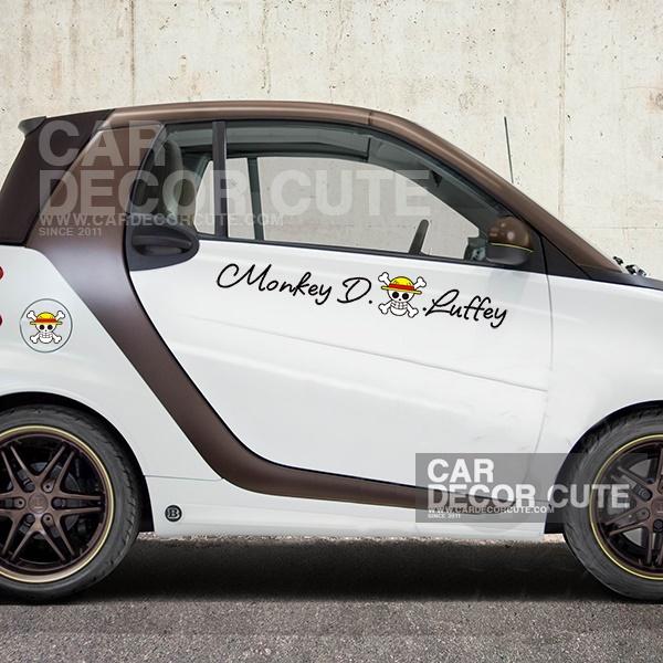 ONE PIECE- Monkey D. Luffy สติกเกอร์ตกแต่งรถยนต์ ลายวันพีช