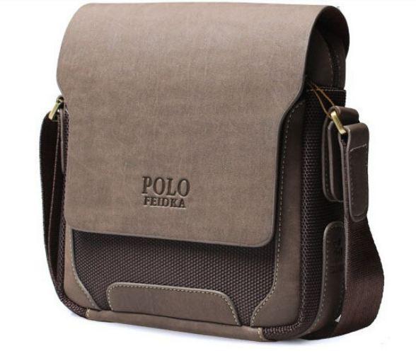 กระเป๋าสะพายข้างผู้ชาย หนังแท้ Polo มีที่เปิดปิด ซ่อน กระดุมแม่เหล็กด้านใน ขนาดกลาง กระเป๋าสะพาย ทำงาน หรูหรา ทนทาน ราคาถูก 79814_1