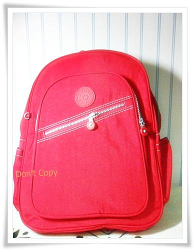 กระเป๋า notebook สะพายหลัง สีแดง KP001