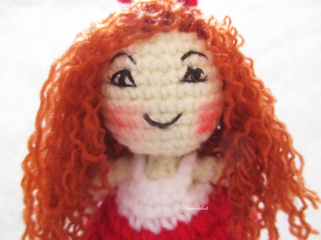 ตุ๊กตาเด็กผู้หญิงถักโครเชต์ ขนาด 4 นิ้ว girl dolls amigurumi crochet keychain 4 inches